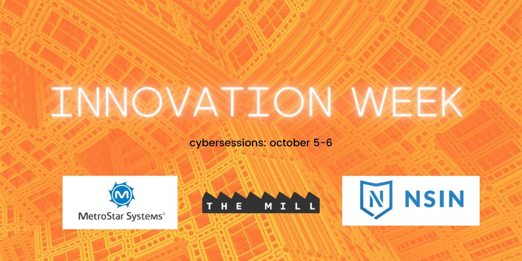 Innovation Week 2020 banner with sponsor logos