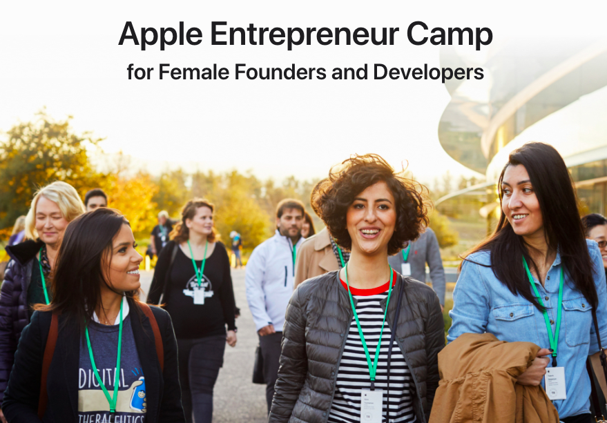 Apple Entrepreneur Camp photo of young women