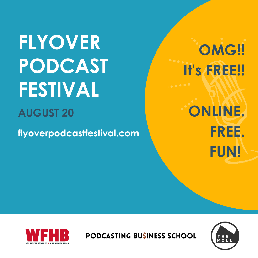 graphic for Flyover Podcast Festival